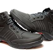 Зимние мужские ботинки - искусственный нубук (МК-03-НБ)
