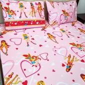 Феи! Яркий качественный постельный комплект для детской кроватки!