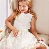 Нарядное белое кружевное платье Next на 13 лет