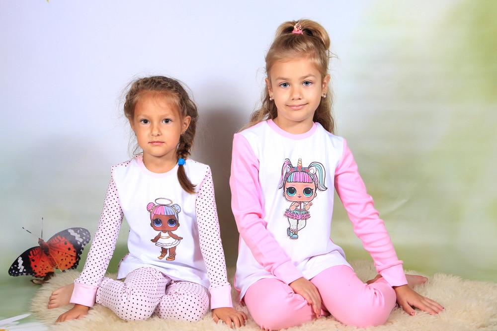 Піжами на дівчаток від 92 до 134 росту фото №1