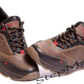 Кроссовки мужские кожаные Merrell Olive