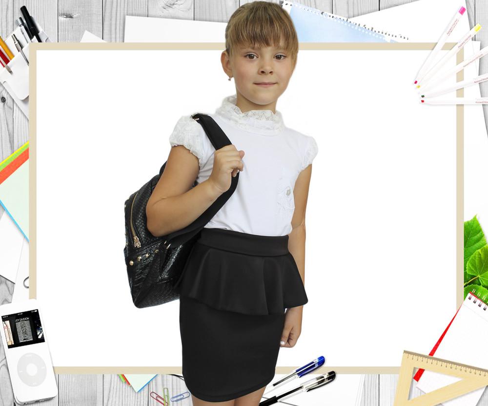 Детская юбка школьная для девочек фото №1