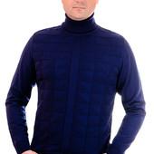 №252 Легкий свитер( гольф ) с треугольниками