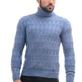 №228 Мужской шерстяной тёплый свитер с воротником гольф