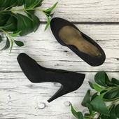 Классические туфли-лодочки под замшу с конусовидным каблуком  SH1831044
