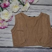 5 - 6 лет 110 - 116 см модная фирменная красивенькая теплая жилетка болеро