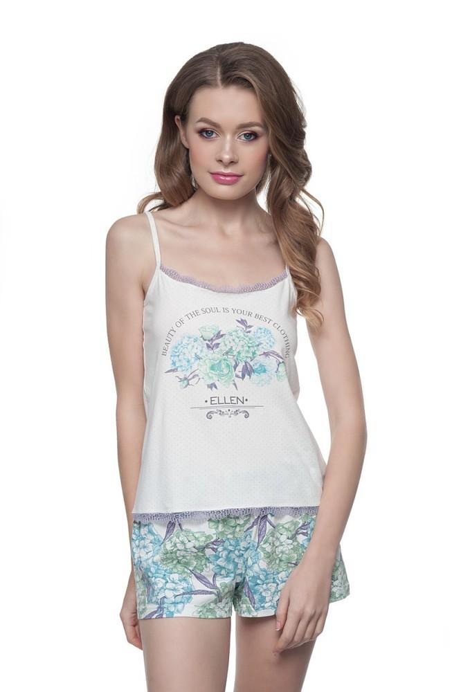 Женская пижама с цветами lnp 147 001 (ellen) эллен 74e93147e60d2