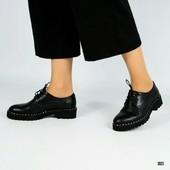 Новинка! женские кожаные туфли код:ДК 3923