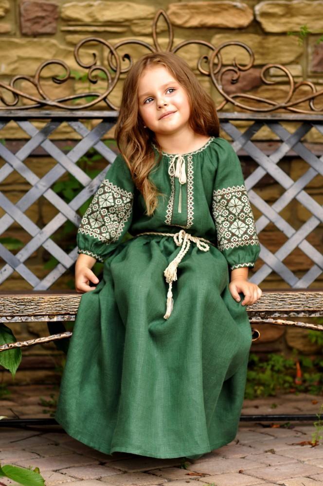Дитяча сукня з натурального льону фото №1