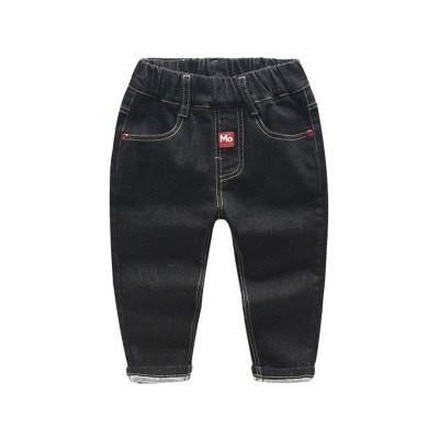 Класические черные джинсы на резинке. р 90-130 фото №1