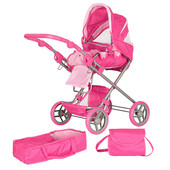 Большая коляска для куклы Melogo 9333 Розовая, Фиолетовая