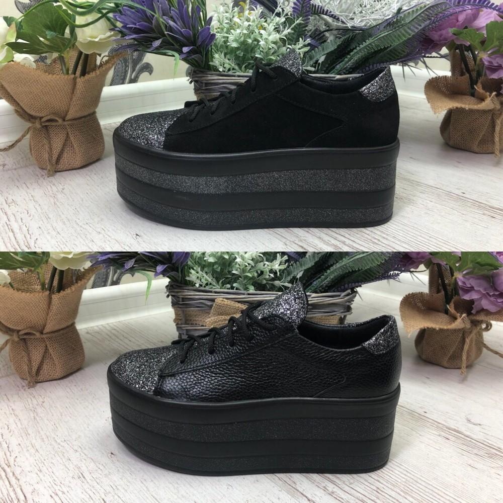 Туфли на платформе платформа  материал: натуральная кожа, замша  фото №1