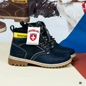 Новинка! кожаные ботинки унисекс код:ДК 193