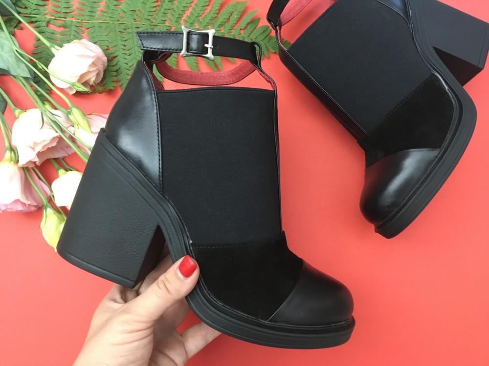Классные женские кожаные ботинки, ботильоны фото №2