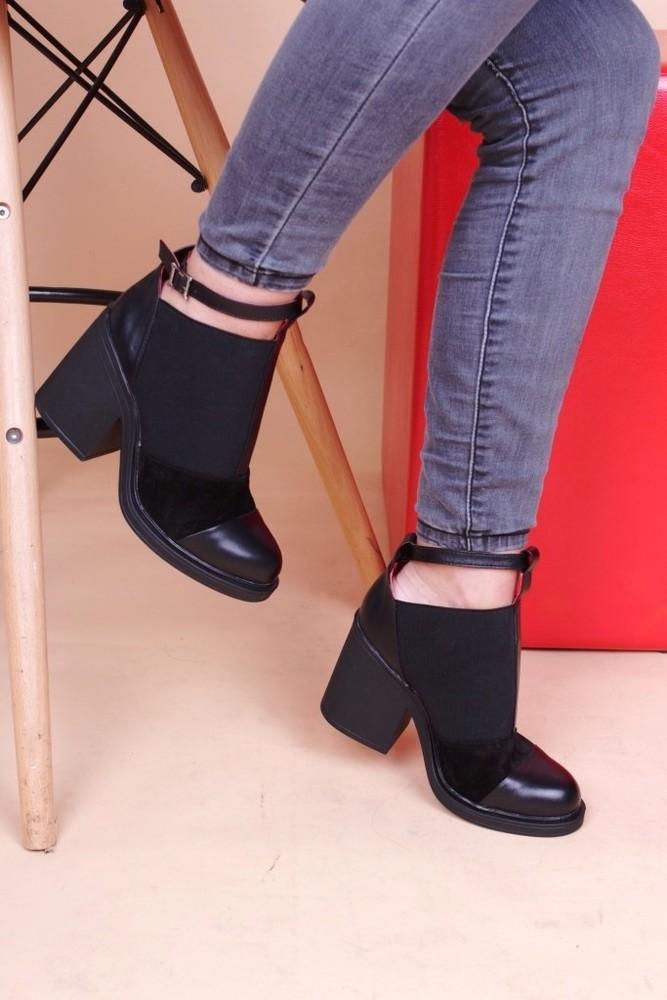 Классные женские кожаные ботинки, ботильоны фото №1
