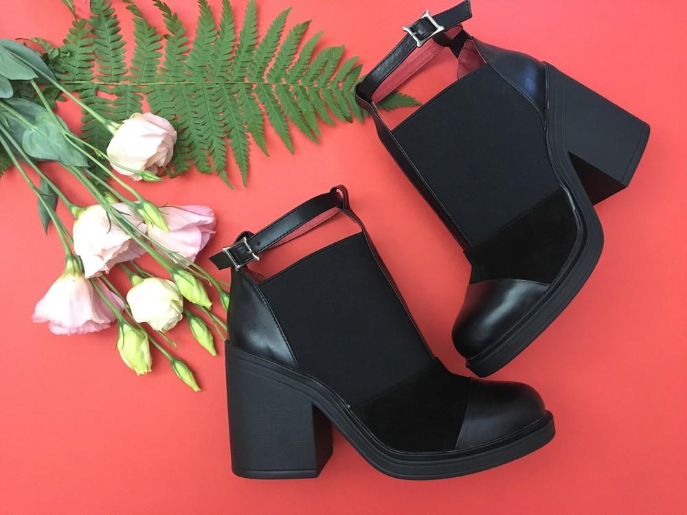 Классные женские кожаные ботинки, ботильоны фото №3