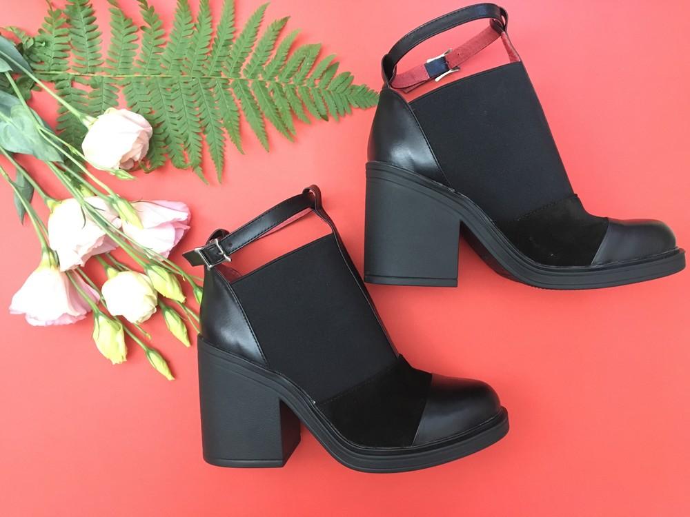 Классные женские кожаные ботинки, ботильоны фото №5