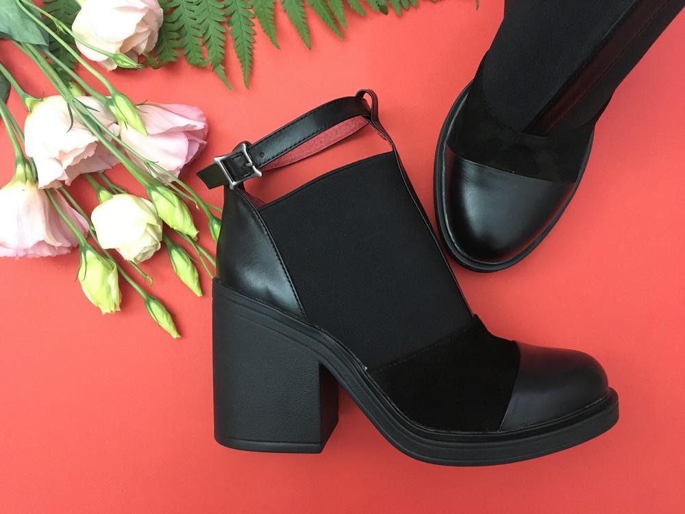 Классные женские кожаные ботинки, ботильоны фото №4