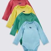 Боди для новорожденных с длинным рукавом Marks&Spencer