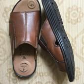 Walking шлепки кожаные с 5 зонами комфорта р-р 40 26 см