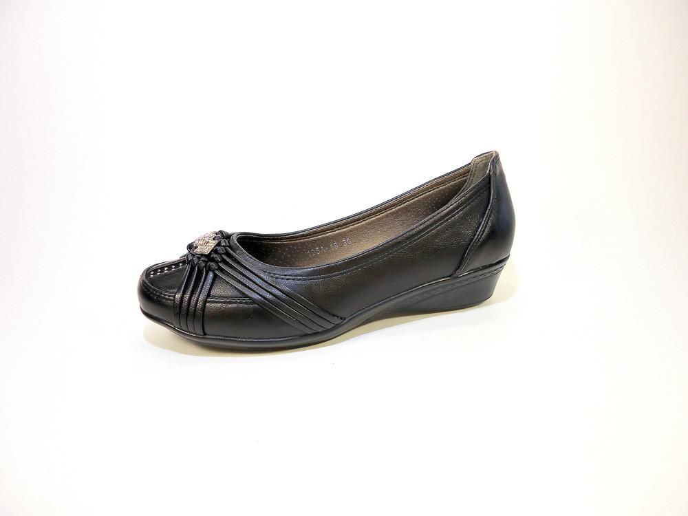 Туфли женские на танкетке, черные, комфортные и удобные. размер 36-41. фото №1