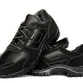 Мужские спортивные полуботинки - кроссовки на меху (КБ-12ч)