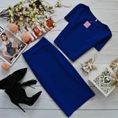 Стильный костюм топ и юбка кукурузка Супер качество
