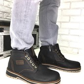 Натуральные зимние мужские ботинки на меху, код ех-2002