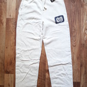 Теплые светлые спортивные штаны размер М, 32-8 Ю