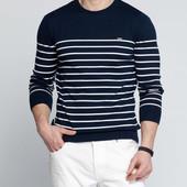 синий мужской свитер LC Waikiki / ЛС Вайкики в белые полоски