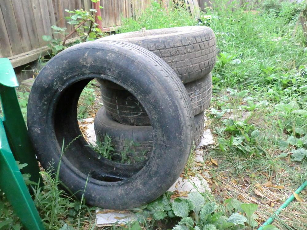 Колеса резина шины для клумбы для дачи фото №1