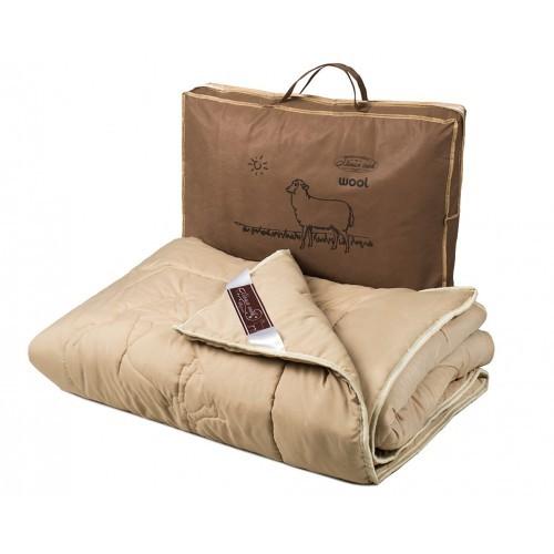 Одеяло овечья шерсть облегченное и теплое фото №1