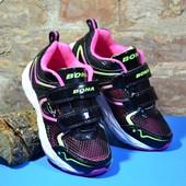 бесплатная пересылка кроссовки для девочки размер 31 33 Bona Бона с перфорацией дышащие текстильные