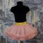 Нарядная фатиновая розовая юбка с рюшами Five Stars U0109-110p
