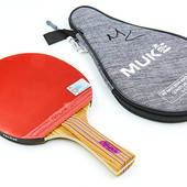 Ракетка для настольного тенниса с чехлом MUK 200B 2 Star: ракетка + чехол