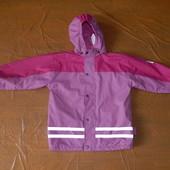 3-5 лет, р. 98-110, Куртка непромокайка дождевик на флисе Playshoes, Германия
