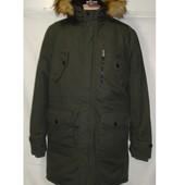 Мужская зимняя котоновая удлиненная куртка на холлофайбере Glo - Story. Разные цвета.