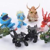 Игрушки Как приручить Дракона, 8 шт