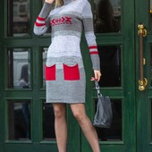 Платье вязанное Меланж