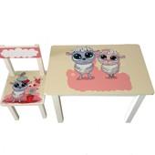 Детский столик и стульчик BS0182 Овечки