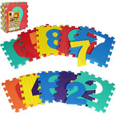 М 2608 Развивающий коврик пазл - мозаика цифры , м2608