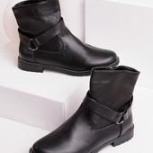 Женские демисезонные ботинки без каблука