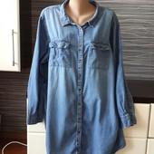 Джинсова сорочка на розмір 2-3XL