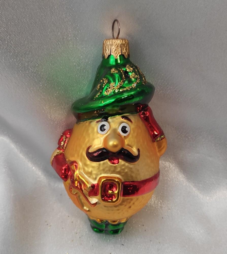 Стеклянная игрушка лимон фото №1