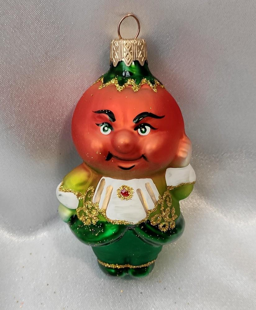 Стеклянная игрушка сеньйор помидор фото №1