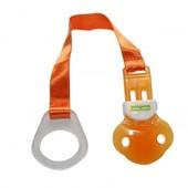 Держатель для пустышки Baby team оранжевый