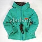 Детская теплая парка куртка для мальчика для девочки на подкладке 3-4 года 4013