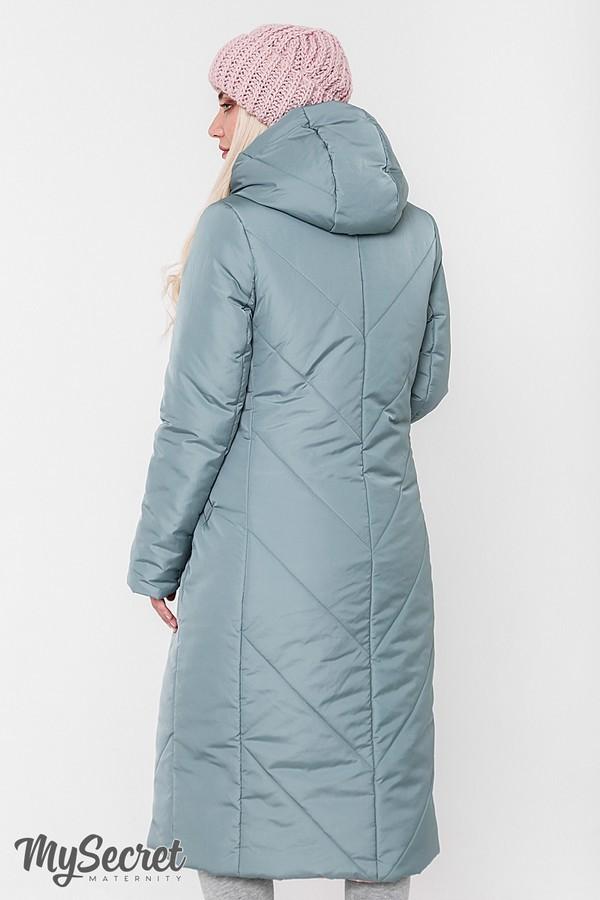 Стильное пальто, куртка для беременных, розовый/оливка фото №7