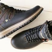 Мужские зимние ботинки коламбия коричневые и черные