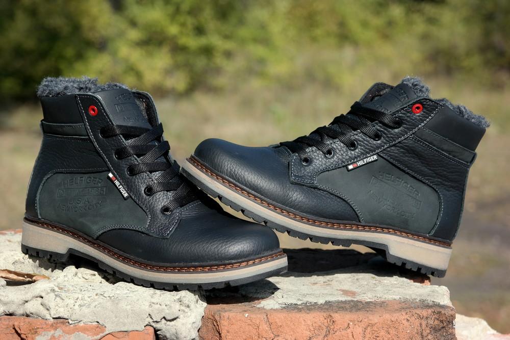 Подростковые зимние кожаные ботинки , густой мех, молния и толстая кожа. в наличии фото №10
